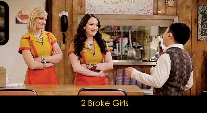 yemek yerken izlenebilecek diziler - 2 Broke Girls