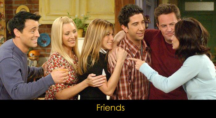 yemek yerken izlenebilecek diziler - Friends