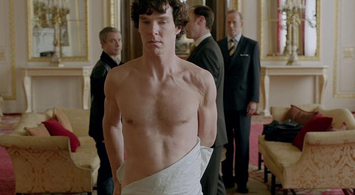 Sherlock testi - beyaz çarşaf