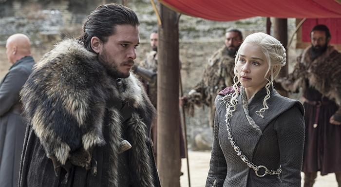 Game of Thrones Khaalesi ve Jon Snow